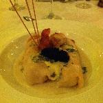 Lobster Roll with caviar at Belle Italia