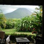 vista al volcán desde la habitación