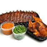The Chicken and Rib Bundle- One of the most popular to-go items!