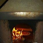 El horno donde se cocinan las pizzas!
