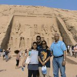 Abu Simbel Temple with Family