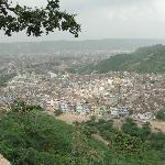 View of Jaipur from the temple