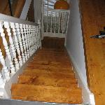 STEEP stairs to upper loft bedroom