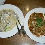 Beef Curry and Pad Thai