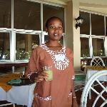Our waitress Dorcus