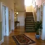 The entrance hall with stairs