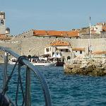 arriving by hotel boat in Dubrovnik harbour