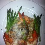 lobster risotto with chanterelle mushrooms and asparagus! delish!