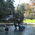 Museum Tinguely's iron scultpure desugned by Jean Tinguely