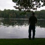 My husband enjoying a little fishing<3