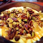 Organic yogurt with honey and nuts. I'm craving this as I type.