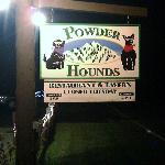 Sign our front of Powder Hounds
