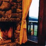 Cosy Log Fires at Takaro Luxury Lodge Fiordland