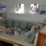Lounge area in the catamaran