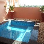 Plunge pool in room