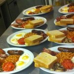 Try an English Breakfast while watching football (soccer) games!