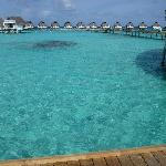 Amazing blue water