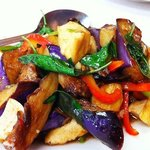 Stir fried Eggplant with Basil