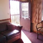 sofa, front door