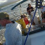 Onboard with a merry crew