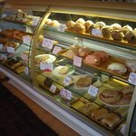 Pastry case at The Bakery