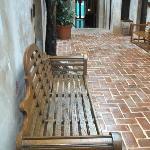 Passageway to the second floor rooms