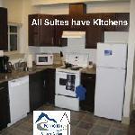 Allsuites have kitchens
