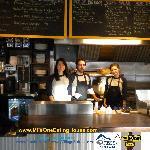 Randy Jones Pembertons Best 2012 Chef, wife Cindy co-owner MILe One & staff.