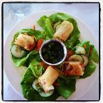 Lobster spring rolls - yummy!