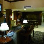 Lobby, breakfast serving area