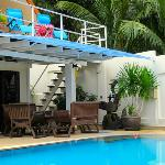 Balcony and swimming pool