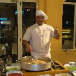 Thumbs up from chef