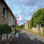 On the way to the church through Giverny village