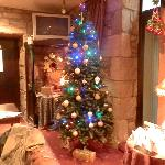 Christmas tree in the lounge bar