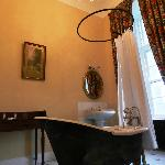 Clawfoot Tub, Dressing Table and Those Terrific High Ceilings in Bathroom!