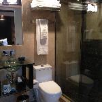 very modern bathroom