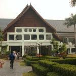Eingang Hotel vom Garten