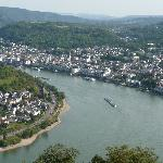 Nice view of Boppard from the Chair Lift at the other end of town