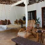 Private veranda for relaxing or eating
