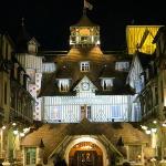 Hotel main entrance at night