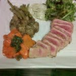 Grilled tuna and side orders to enjoy with our signature sauces!