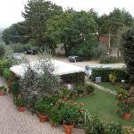 Gardens and car apark