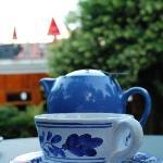 tea in garden
