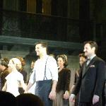 Cerveris, Elena y Ricky en el saludo final