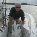 David with 145 lb. tarpon near Ponce Inlet.