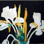 "Appliqué wall hanging ""White Ginger"""