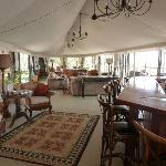 Lodge bar and sitting area