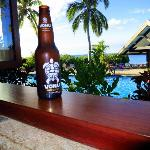 Vonu Beer from Restaurant Overlooking Pool area