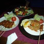 Nasi Goreng, Pork Sate, Gado Gado
