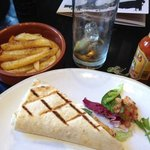 chicken wrap & chips